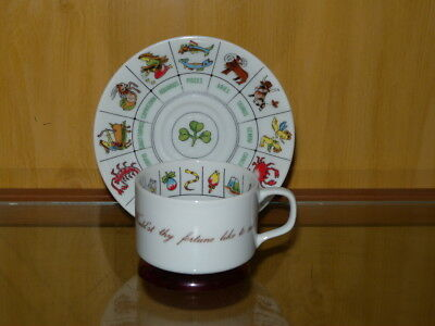 International Collectors Guild Zodiac Astrology Fortune Teller Cup And Saucer