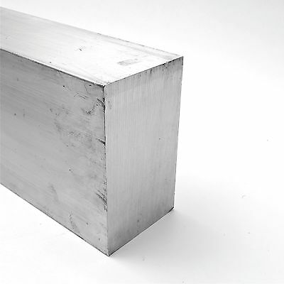 "3.5"" x 6"" Aluminum Solid 6061 FLAT BAR 9.75"" Long new mill stock sku K214"