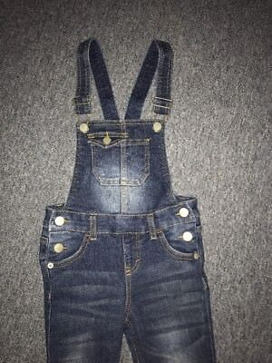 GIRLS Overalls Cherokee JEANS BLUE BIB Size XS SLIM Fit Sandblasted