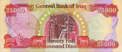 Iraqi Dinar Currency (Iqd) - Authentic 25,000 Iraq Banknote - Cbi Active Issue