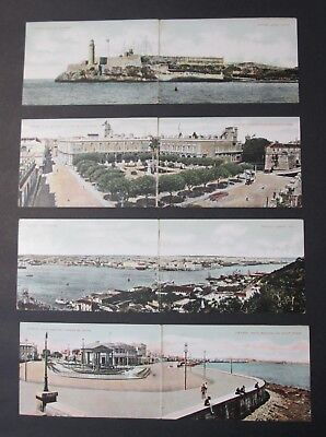 4 Fold Out Postcards HAVANA CUBA Early 20th Century Unposted Undivided Backs