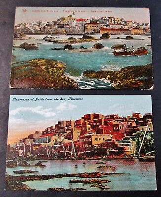 Early 2 Postcards Views of JAFFA from the Sea Unwritten