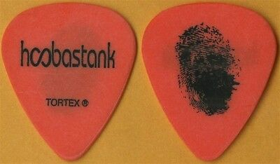 Hoobastank Dan Estrin authentic 2006 tour custom stage band orange Guitar Pick