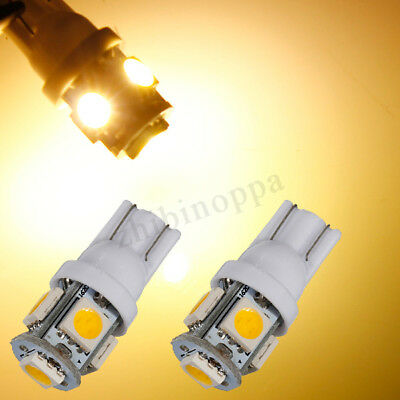 T10 501 W5W 5SMD 5050 LED Canbus Side Car Side Wedge Lampadina Warm White