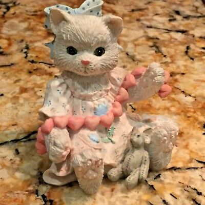 Enesco Calico Kittens A Good Friend Warms The Heart #627984 1992 No Box Or Coa