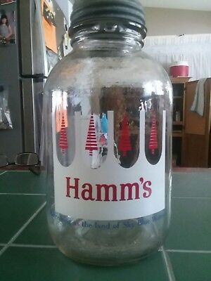 Extremely Rare 1960 Hamm's Beer  Glass Growler. only produced for 2 months