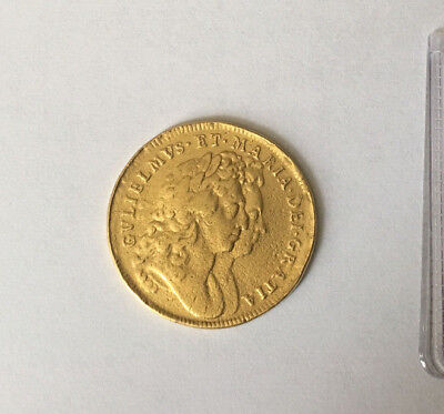1694/3 Two Guineas Gold Coin Extremely Rare.