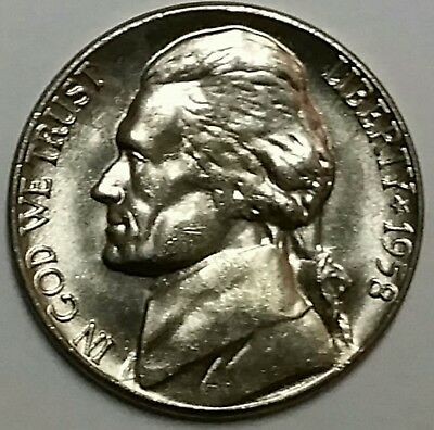 1958-D Jefferson Nickel, BU, Uncirculated, From OBW Roll, Free Shipping