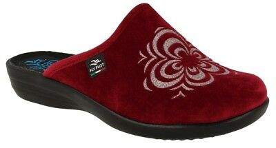 FLY FLOT P3N63 Pd Bordo Ciabatte Donna Made In Italy Zeppa 3