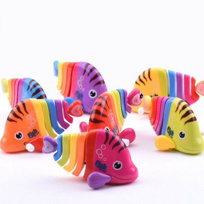 Creative Colorful Fish Clockwork Toy Baby Wind Up Toy Kids Gift Random Color