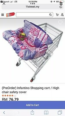 Baby Cart Cover by Infantino Pink/Multi Color with attached teether.  NIB