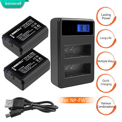 New NP-FW50 Battery or Charger For Sony Alpha A7 A7R A5000 A6000 A6300 NEX-F3 TP