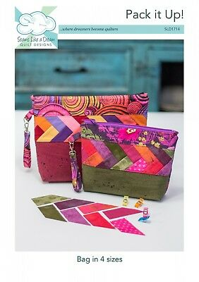 PACK IT UP!  Fun Zippered Bag in 4 Sizes Sewing Pattern Seams Like A Dream