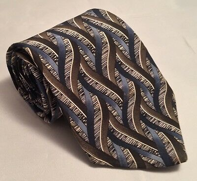 "CockTail Collection, Men's Tie, 100% Silk, Gray Geometric Weave 57"" x 3.75"""