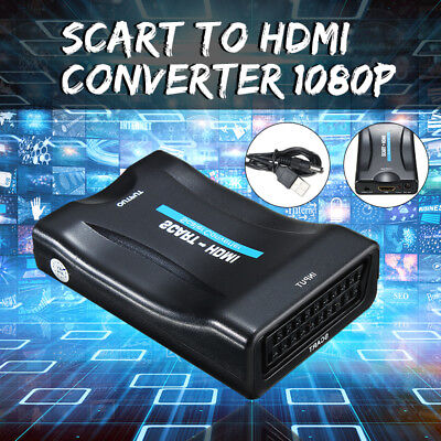 1080P Scart To Hdmi Video Audio Upscale Convertitore Adattatore Hd Stb Tv Dvd