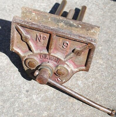 DAWN SIDCHROME AUSTRALIA No 9 CAST IRON BENCH VICE WOODWORKING CARPENTRY