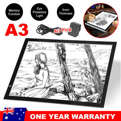 A3 LED Light Box Tracing Board Art Design Stencil Drawing Pattern Copy Pad OZ