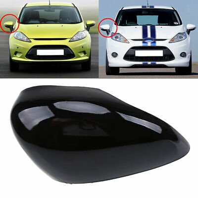Fit Ford Fiesta Mk6 08-17 Door Wing Mirror Cover Black O/S Drivers Side Right