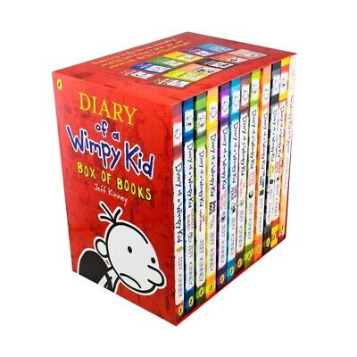 Diary of a Wimpy Kid Collection 12 BooksSet By Jeff Kinney Long Haul,Hard Luck