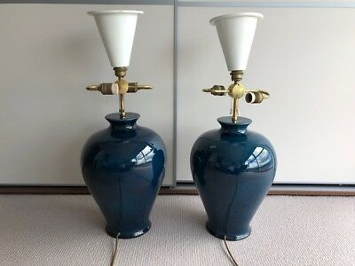 Pair of large vintage table lamps in good condition