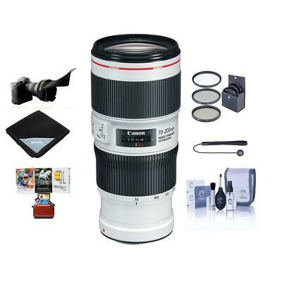Canon EF 70-200mm f/4L IS II USM Lens, USA - With Free Accessory Bundle