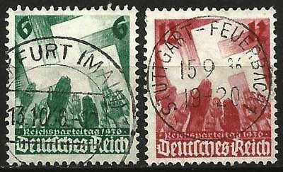 Germany (Third Reich) 1936 Used - Nuernberg Nuremberg Party Congress Swastika