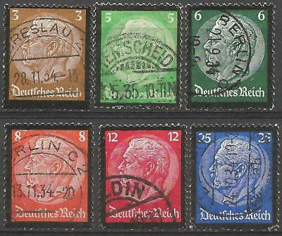 Germany Third Reich Used Set 1934 - Hindenburg Memorial Medallions Black Border