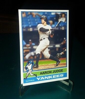 New York Yankees Aaron Judge 1976 style  Custom Art Card ACEO