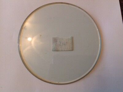 Clock Glass Bevelled Flat Round 128mm 4mm BevelClockmakers Spare Part