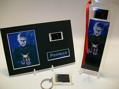 Pinhead Hellraiser 3 Piece Movie Film Cell Memorabilia Collection Gift Set Lot