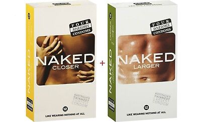【Final Sale】Four Seasons NAKED CLOSER TIGHT-FIT 12 pack + LARGER 12 pack