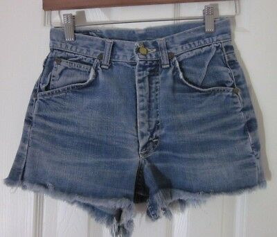 dba57f86 Lee Riders - Women's Distressed 100% Cotton Medium Denim Shorts - Tag Size  28