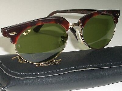bb82d8f79182d italy vintage bl ray ban w1264 mock tort rb3 durch grün oval clubmaster  sonnenbrille 3b60d d57e0