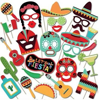 Mexican Fiesta Photo Booth Props Themed For Birthdays Weddings