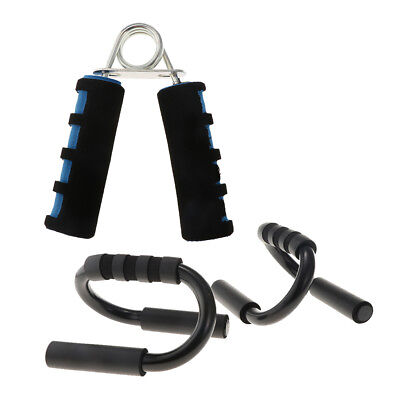 1 Pair Push Up Bars Stand Foam Handles for Chest Press Pull & Hand Gripper