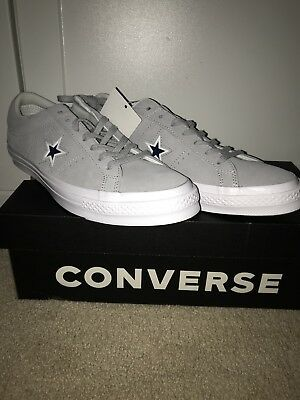 converse one star gray suede new size 10