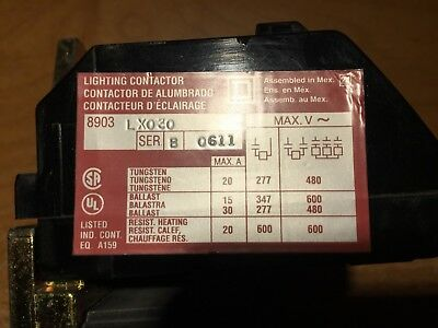 Square D LX030 lighting contactor
