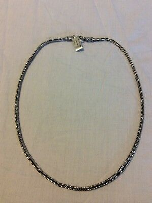 """24"""" Bali Rope Necklace Square Wheat Snake (5mm) 925 Sterling Silver 50.1 Grams"""