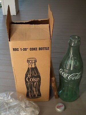 "Circa 1960's Coca-Cola 20"" glass display bottle - MIB"