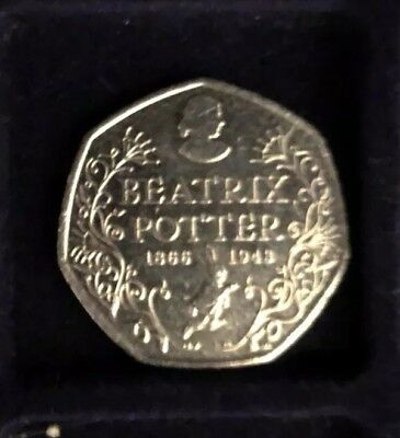 Rare Beatrix Potter 150th Anniversary 50p Fifty Pence coin 2016