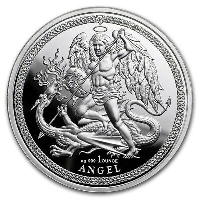 2018 Isle of Man 1 oz Silver Proof Angel Archangel Michael