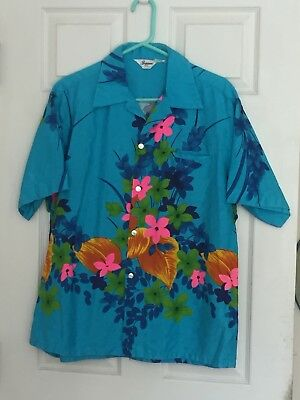 True Vintage Hawaiian Shirt - By Tropicana Hawaii - Men's Large - Barkcloth