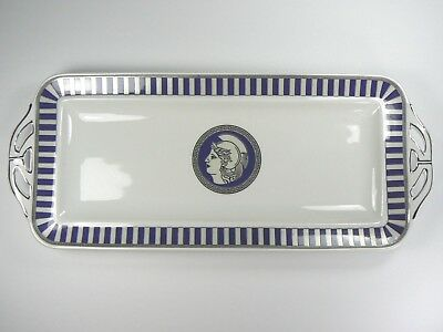 T. LIMOGES Design ANCIENT GLORY OF ROME Handled Porcelain Tray