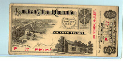 1896 St Louis Republican Convention Ticket