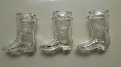 Jim Beam - Shot Glasses - Boots - Set Of 3
