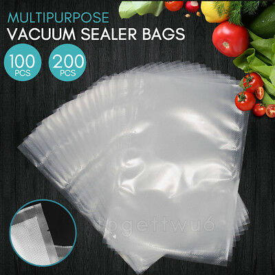 Vacuum 100/200x Embossed Commercial Food Sealer Saver Bags Storage - 20 x 30CM