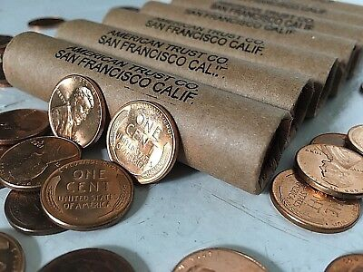 BRILLIANT UNCIRCULATED WHEAT Penny Roll Rare Estate Sale Coin Collection $$