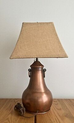 Antique Arts and Crafts Copper Table Lamp