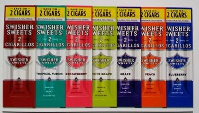 Swisher Sweets 7 Different Variety Flavors. 7 Pouches 2 Per Pouch 14 Pcs Total