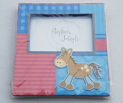 "BABY BOY PHOTO FRAME 4"" x 6"" BY STEPHEN JOSEPH - 2 CUTE!! NEW IN PACKAGE"